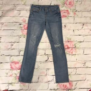 Aeropostale Distressed Skinny Jeans Size 2